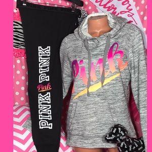 Pink Victorias Secret Ombré Jogger Set🌈